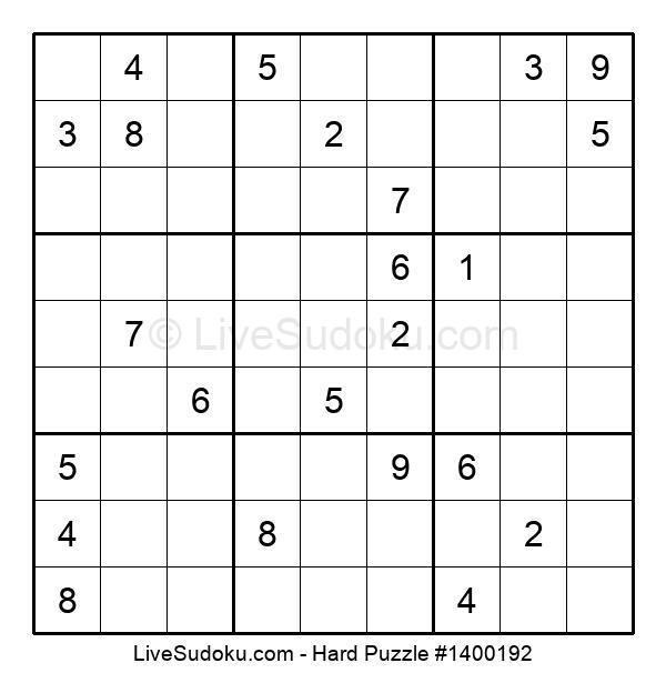 Hard Puzzle #1400192
