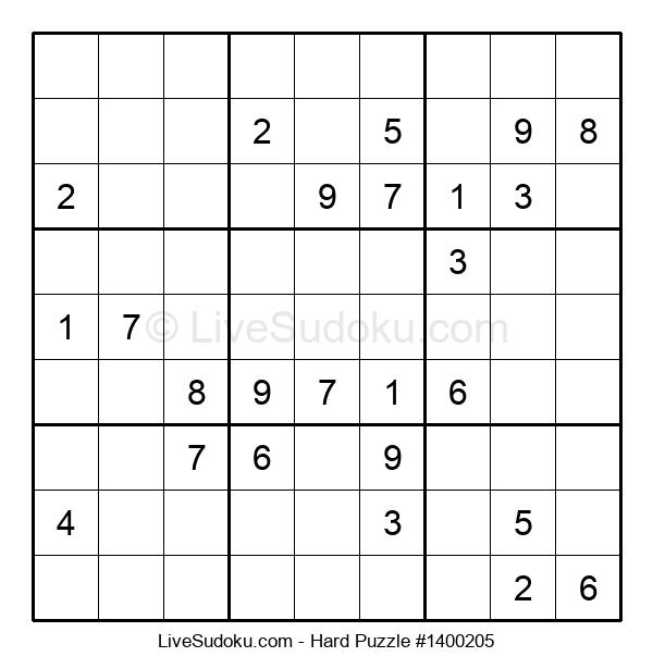 Hard Puzzle #1400205