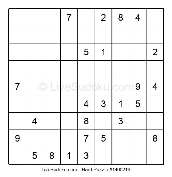 Hard Puzzle #1400216