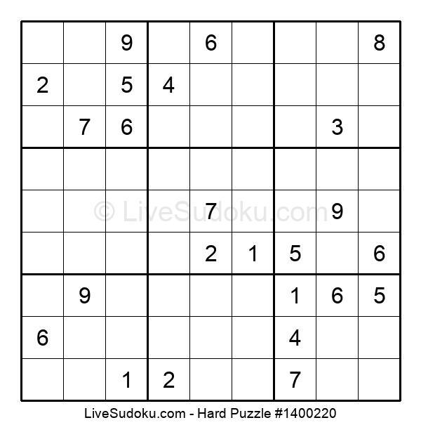 Hard Puzzle #1400220