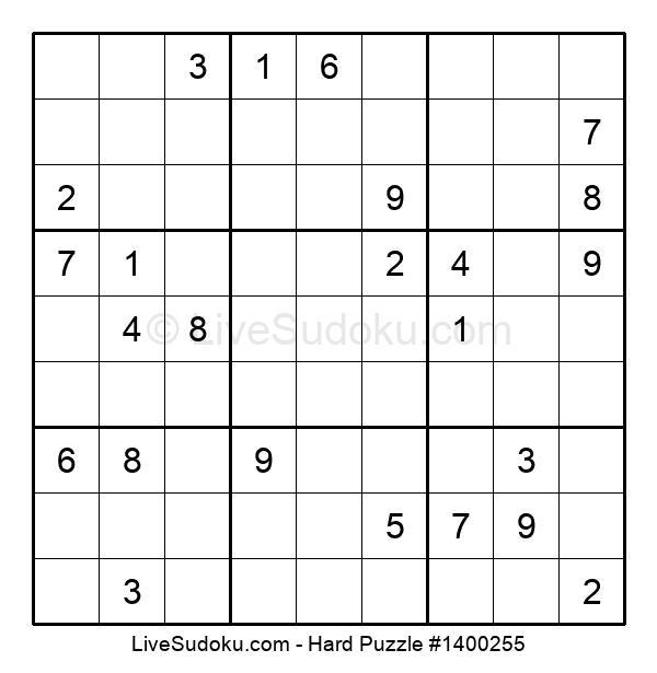 Hard Puzzle #1400255