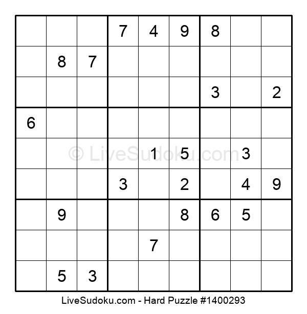 Hard Puzzle #1400293