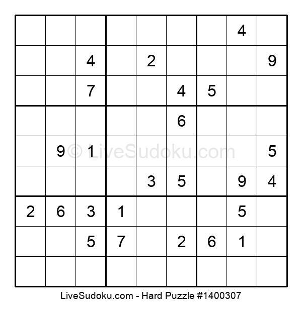 Hard Puzzle #1400307