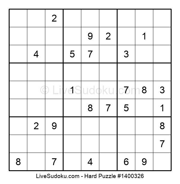 Hard Puzzle #1400326