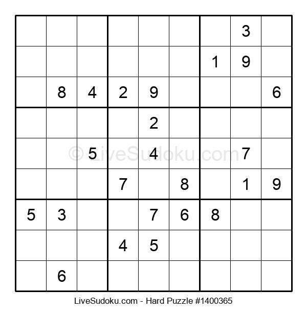 Hard Puzzle #1400365