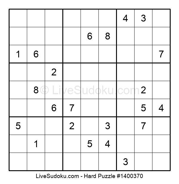 Hard Puzzle #1400370
