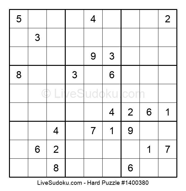 Hard Puzzle #1400380