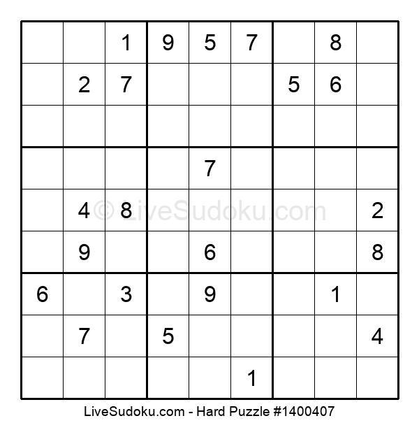 Hard Puzzle #1400407