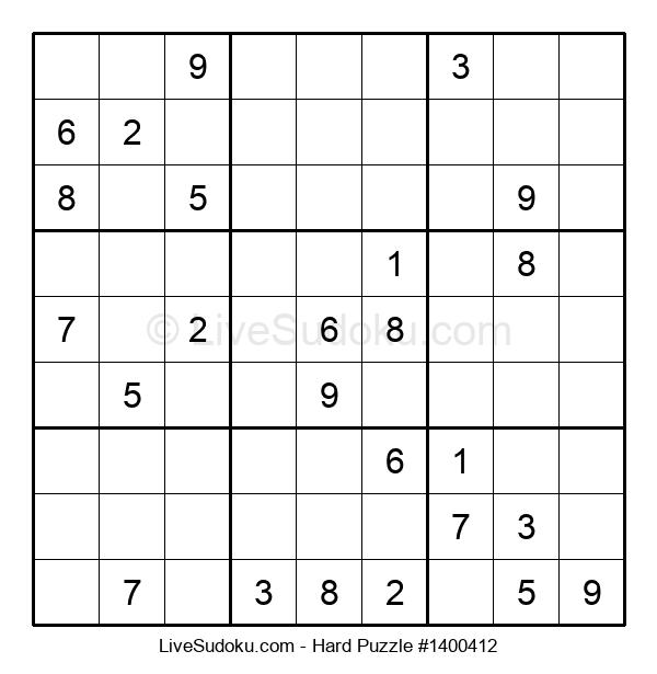 Hard Puzzle #1400412