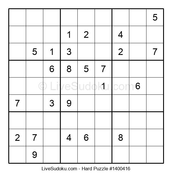 Hard Puzzle #1400416