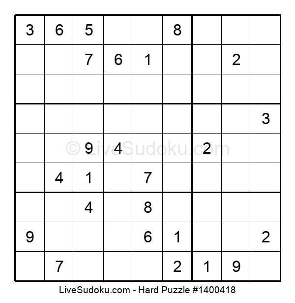 Hard Puzzle #1400418