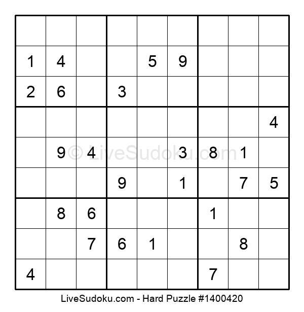 Hard Puzzle #1400420
