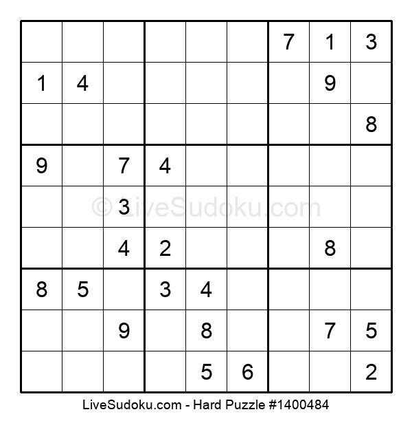 Hard Puzzle #1400484