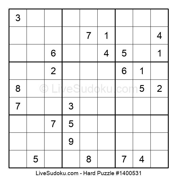 Hard Puzzle #1400531