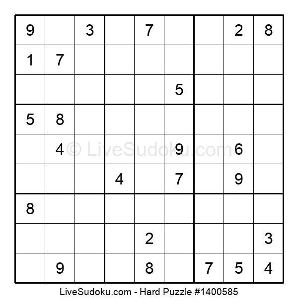 Hard Puzzle #1400585