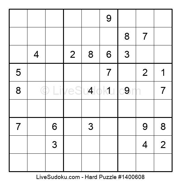 Hard Puzzle #1400608