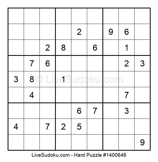 Hard Puzzle #1400646