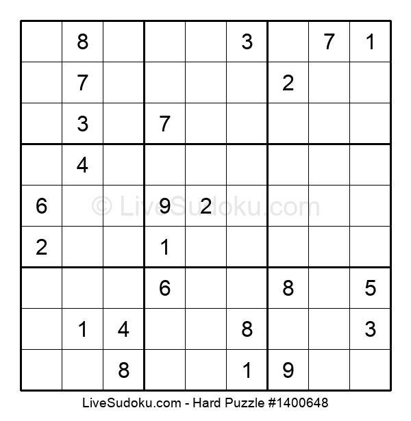 Hard Puzzle #1400648