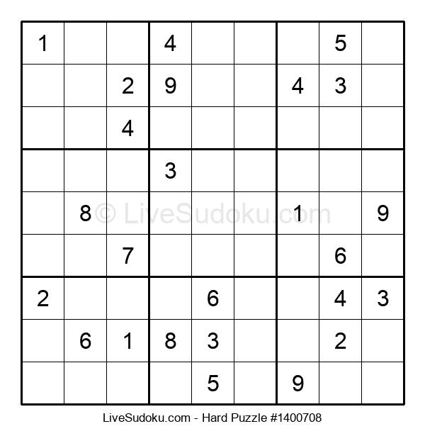 Hard Puzzle #1400708