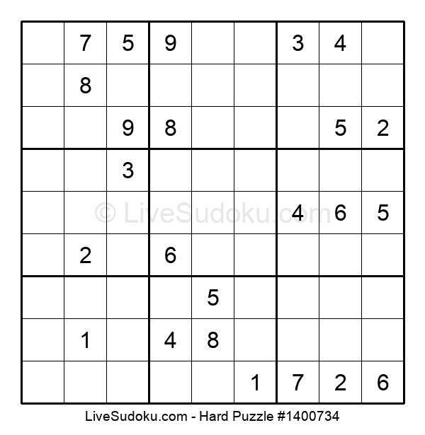 Hard Puzzle #1400734