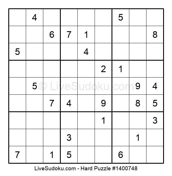Hard Puzzle #1400748