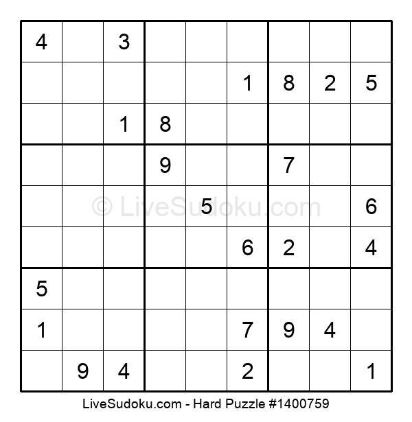 Hard Puzzle #1400759