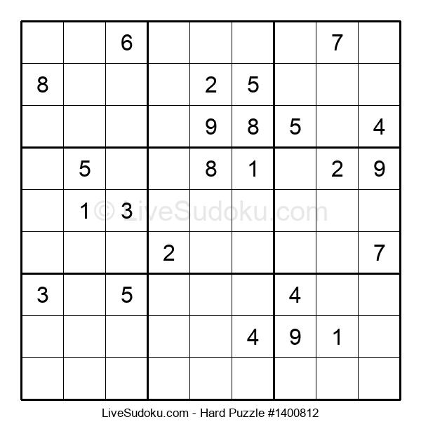 Hard Puzzle #1400812