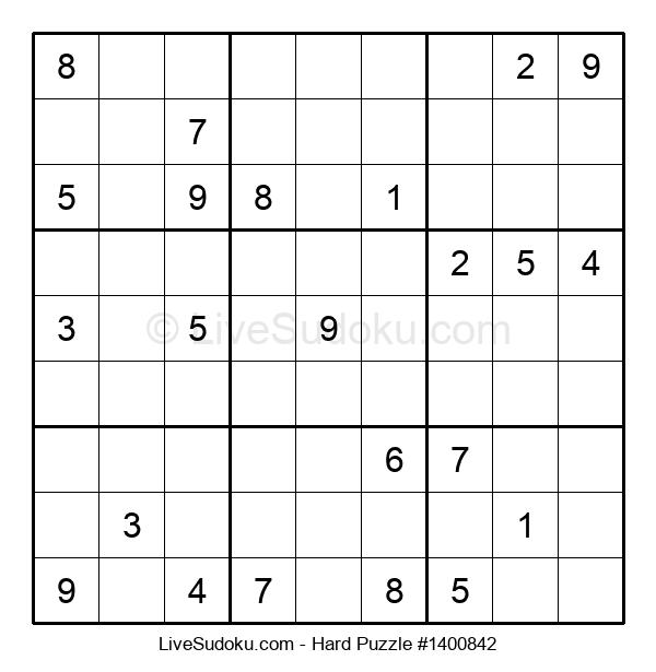 Hard Puzzle #1400842