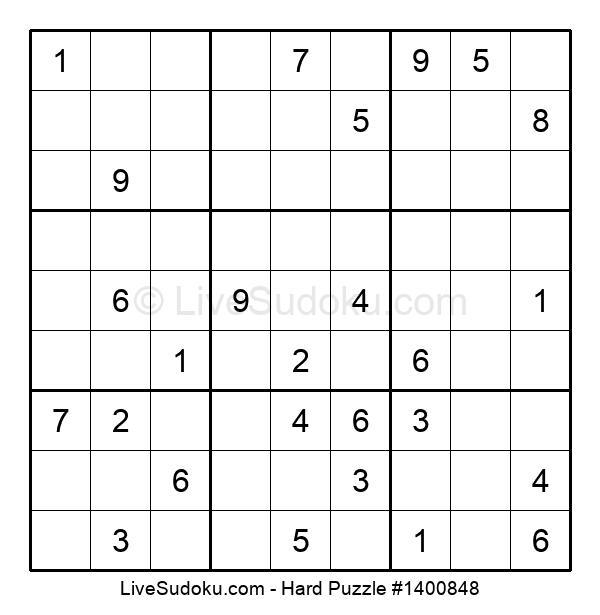 Hard Puzzle #1400848
