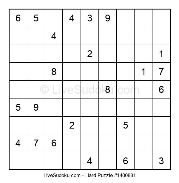 Hard Puzzle #1400881
