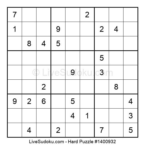 Hard Puzzle #1400932