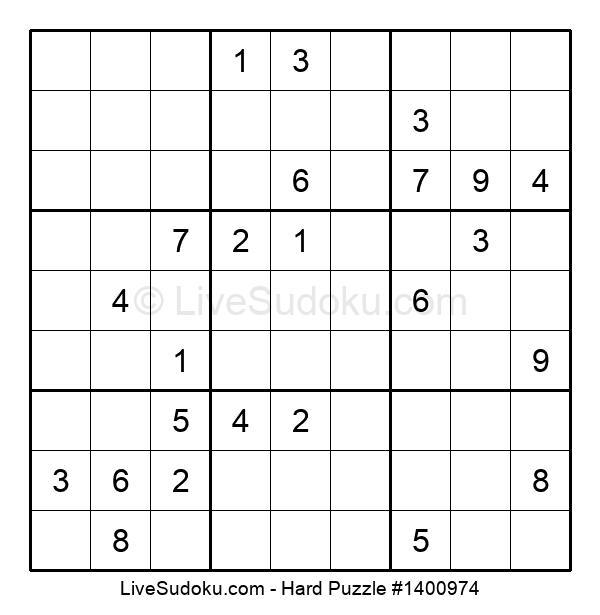Hard Puzzle #1400974