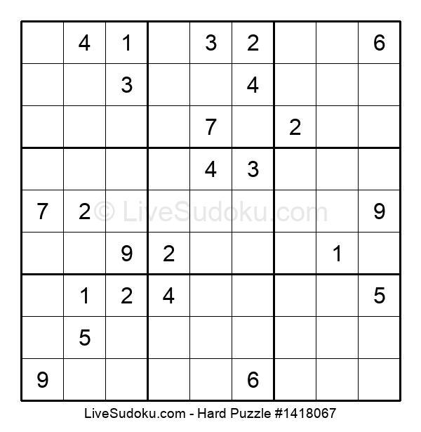 Hard Puzzle #1418067