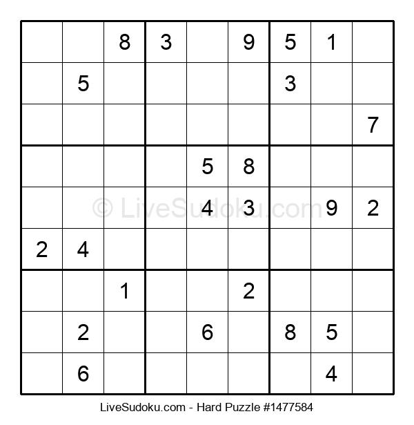 Hard Puzzle #1477584