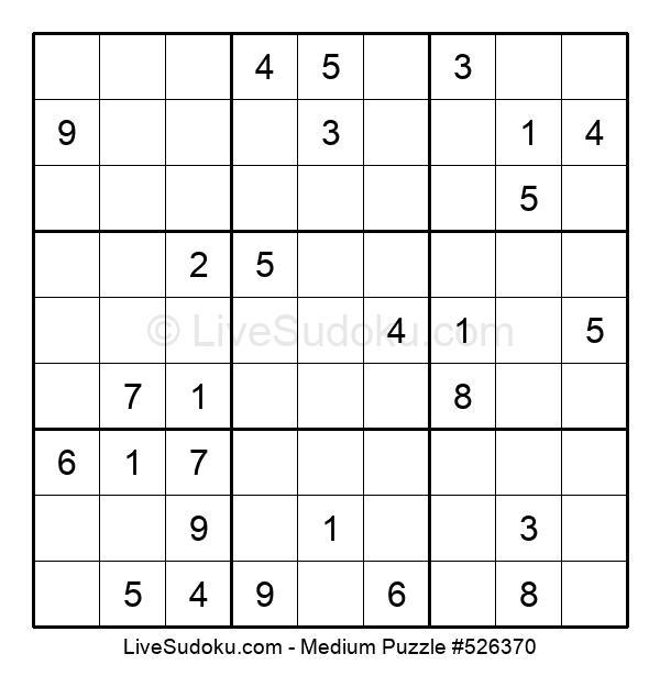 Medium Puzzle #526370