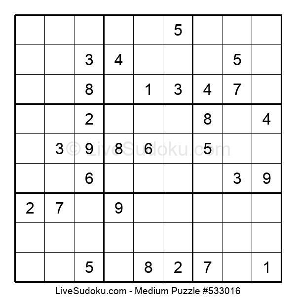 Medium Puzzle #533016