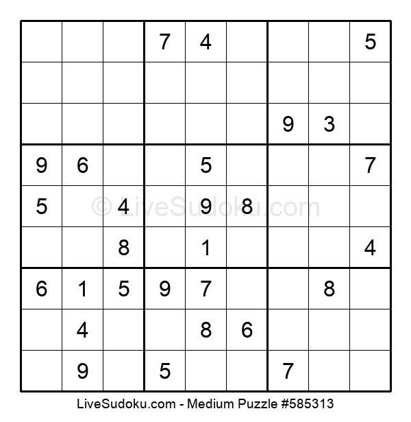 Medium Puzzle #585313