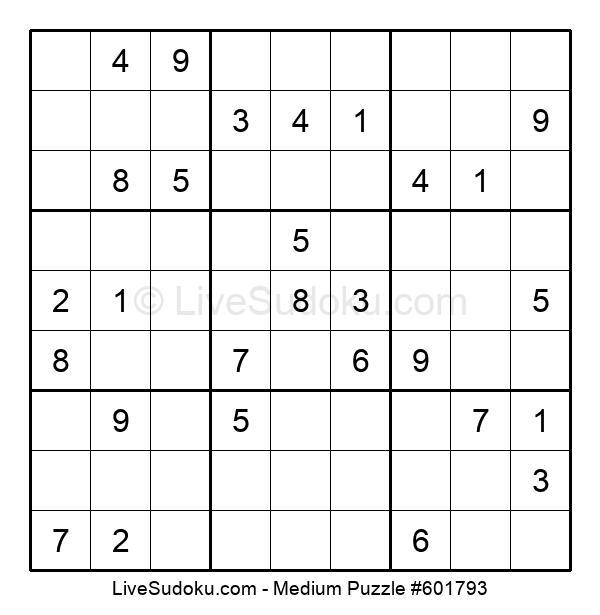 Medium Puzzle #601793