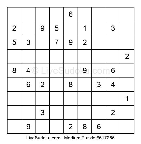 Medium Puzzle #617265