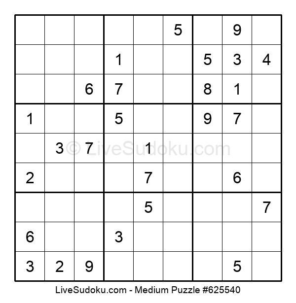 Medium Puzzle #625540