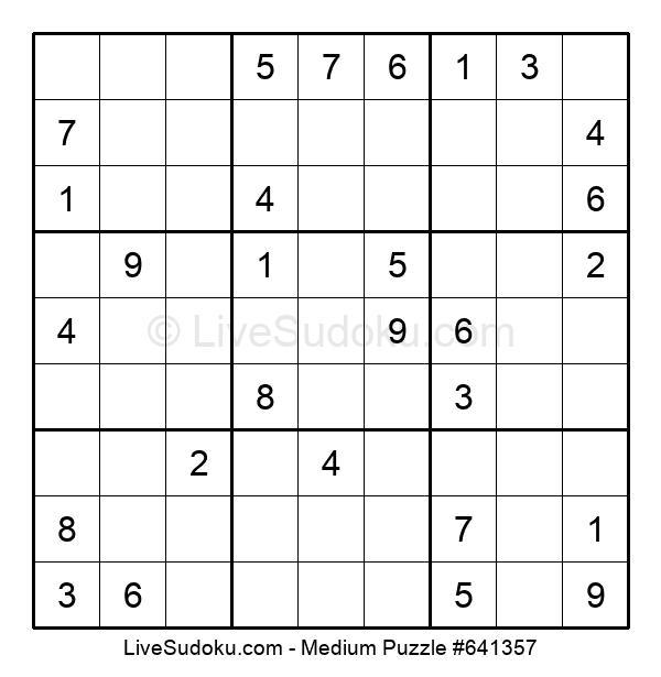 Medium Puzzle #641357