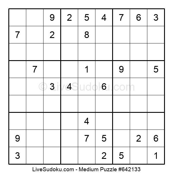 Medium Puzzle #642133