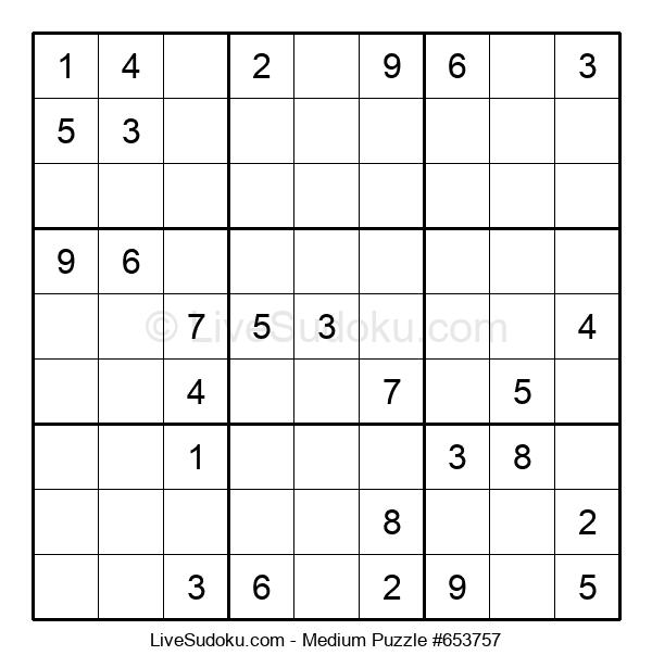 It is a graphic of Medium Sudoku Printable in today's