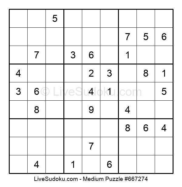 Medium Puzzle #667274
