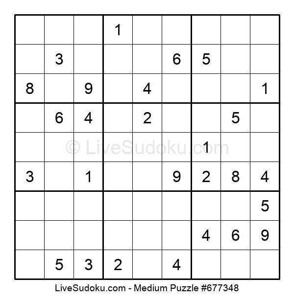 Medium Puzzle #677348
