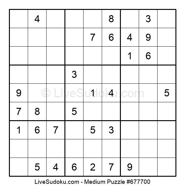 Medium Puzzle #677700