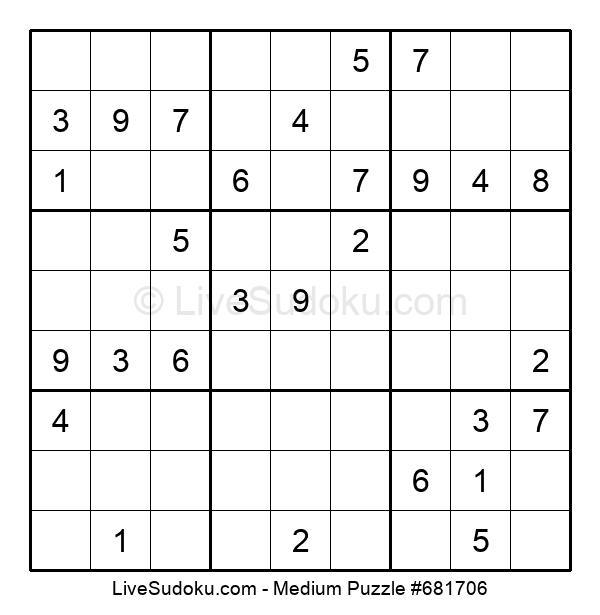 Medium Puzzle #681706
