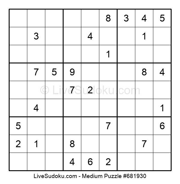 Medium Puzzle #681930