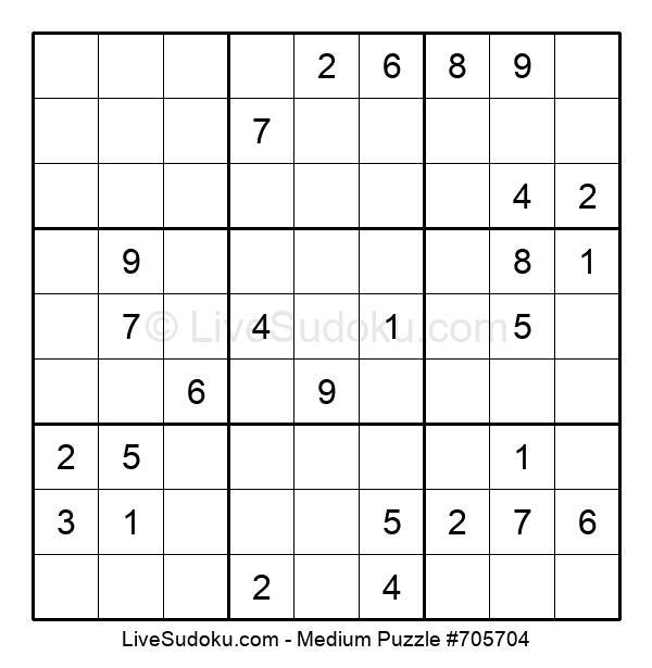 Medium Puzzle #705704