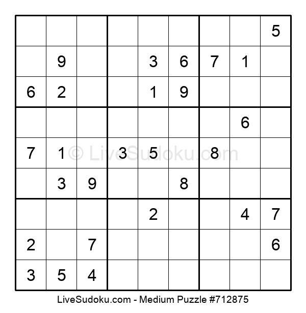 Medium Puzzle #712875
